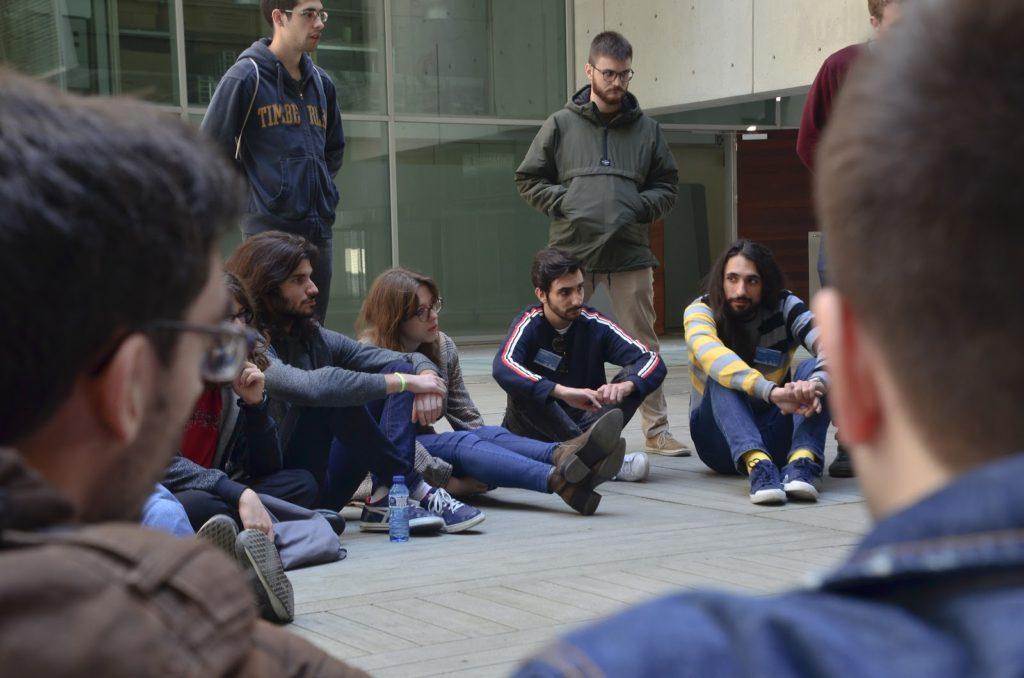 Participantes de la mesa redonda de trayectorias científicas