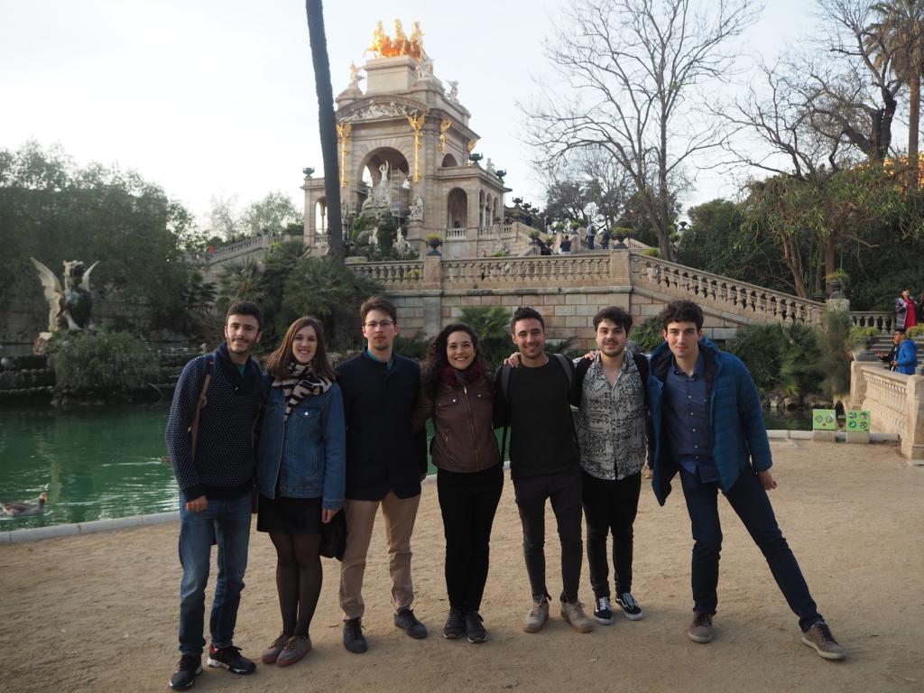 Nuestros Quinters en el Parc de la Ciutadella durante el Street Escape